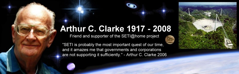 SETI@home Arthur C Clarke tribute page